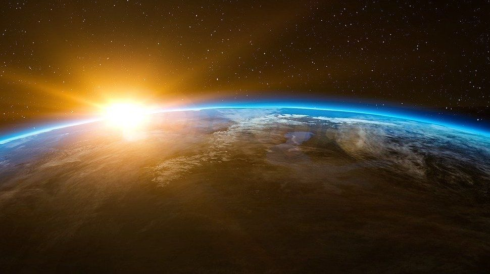 Earth | space | globe | sunrise