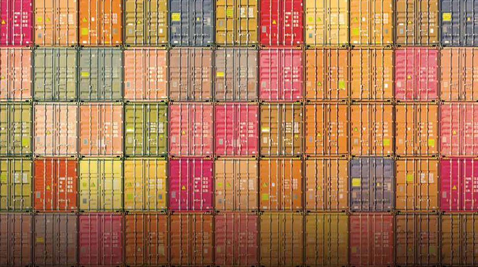container   colourful   maritime   freight   cargo